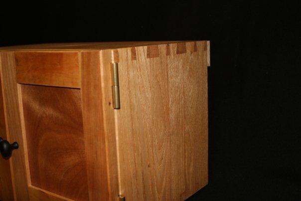 Matt Strickland Wood Design 187 Cherry And Oak Hanging Cabinet